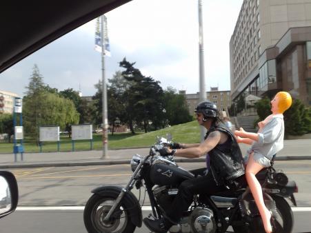 Andula na motorce